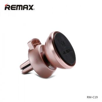 Магнитный держатель для телефона на воздуховод Remax RM-C19 golden