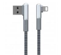Remax Janlon Series Data Cable 8pin, 1m, 3A, угловой (RC-155i) gray