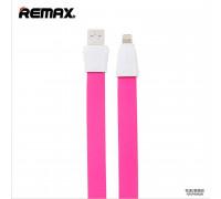 Remax Full Speed 2 Series, 8pin, 1m, плоский, pink
