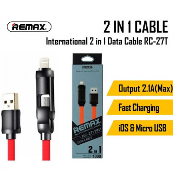Remax International 2-in-1 (L+M) (RC-27t) red with black