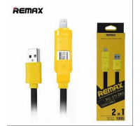 Remax International 2-in-1 (L+M) (RC-27t) black with yellow
