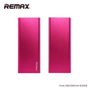 Remax Proda Vanguard Polymer Battery Power Bank 12000 mAh (PP-V12) Pink