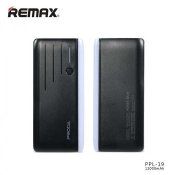 Remax Proda Time Power Box 12000 mAh Black (PPL-19)