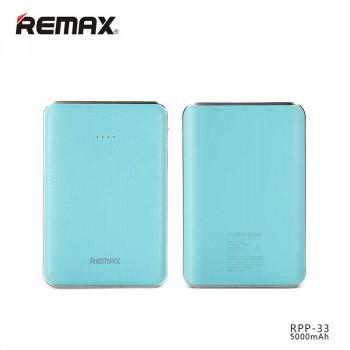 Внешний аккумулятор Remax Tiger Power Bank 5000 mAh (RPP-33) Blue