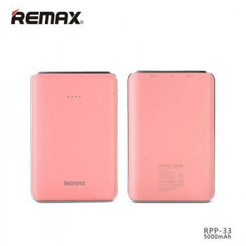 Внешний аккумулятор Remax Tiger Power Bank 5000 mAh (RPP-33) Pink