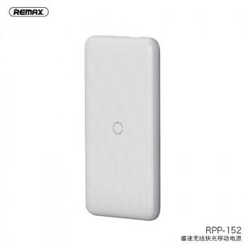 Remax Resu Series Wireless Power Bank 10000mah, QC2.0, PD18w, Qi 10w (RPP-152) white