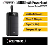 Remax Leader Series Power Bank 50000mAh, 3 USB, LED display (RPP-185) black