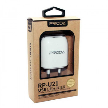 Proda 2USB 2.1A Wall Charger (RP-U21)