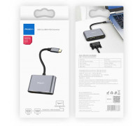 Rock Type-C to HDMI + VGA Converter, 4K (RCB0689) black