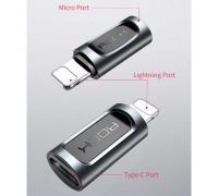 Rock Micro USB to Lightning Adapter, 2A (RCB0607) black