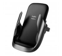 Rock W23 Wireless Charge Air Vent Car Mount, с беcпровод. зарядкой 10W (ABW001) black