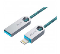 Rock R1 Reversible Lightning & Micro Combo Cable, 1m (RCB0472) peacock blue