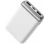 Rock P71 10000mAh Mini PD Power Bank, 2xUSB QC 3.0 + Type-C PD 18w (RPM00405) white