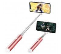 Rock Magic Flute Series Bluetooth Selfie Stick, 4-7 inch, 65cm (Oth-AB601) pink
