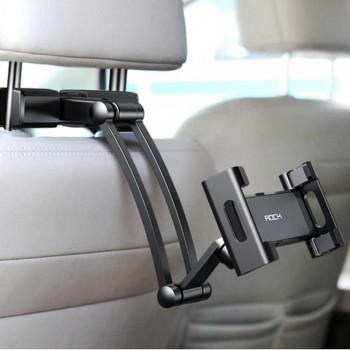 "Rock Universal Stretchable Car Headrest Mount, 5""-12"" silver"