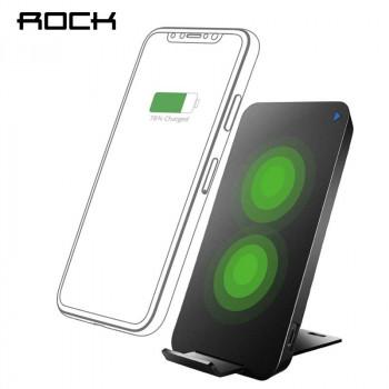 Беспроводное зарядное устройство Rock W8 Quick 10W Dual Coil Wireless Charger (WTS-H005) Black