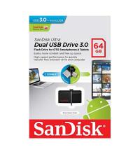 SanDisk Ultra Dual USB Drive USB3.0+microUSB 64GB (SDDD2-064G-G46)