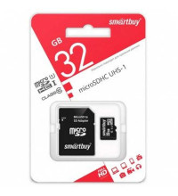 Smartbuy MicroSDHC UHS-1Class 10 with SD adaptor 32GB (SB32GBSDCL10-01)