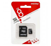 Smartbuy microSDHC UHS-1Class 10 with SD adaptor 8GB (SB8GBSDCL10-01)