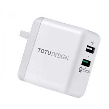 Totu Design AC25 Travel Charger,2.4A+QC3.0 кит. вилка