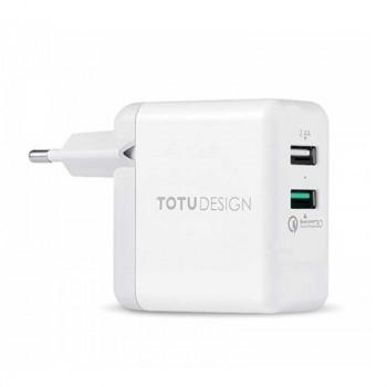 Сетевой блок питания TOTU Adapter Super Series Dual USB EU Plug (AC24)