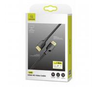 Usams U49 HDMI, 1.8m, V2.0, 3D, 4K HD (US-SJ426 U49) черный