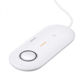 Беспроводное зарядное устройство Usams US-CD119 Wireless Charger For Apple Watch & Mobiles & Earbuds 2IN1