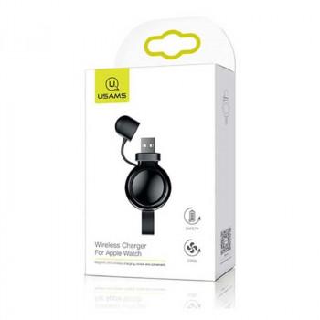 Usams Wireless Charger For Apple Watch, QI 1.5w, без кабеля (US-CC061) black