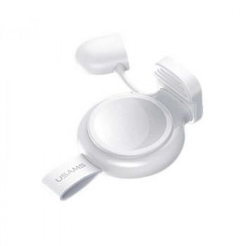 Usams Wireless Charger For Apple Watch, QI 1.5w, без кабеля (US-CC061) white