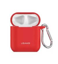 Защитный силиконовый чехол Usams для AirPods с карабином (US-BH423)