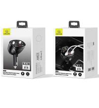 Usams С16 разветвитель прикуривателя, 2 прикур. + 2USB (1A + 2.4A), LCD, 96wmax (US-CC099) black