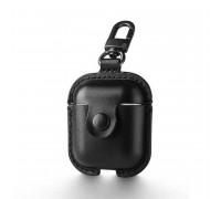 Usams Leaser Case For Airpods, кожаный (US-BH475) black