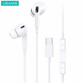 Usams EP-41 Type-C Earphone (US-SJ452) white