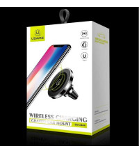 Usams Wireless Charging Magnetic Car Mount, QI 10w (US-CD44) black