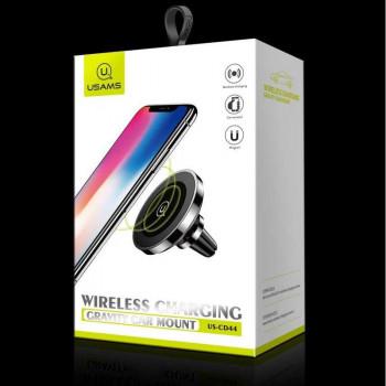 Usams Wireless Charging Magnetic Car Mount, QI 10w (US-CD44) black