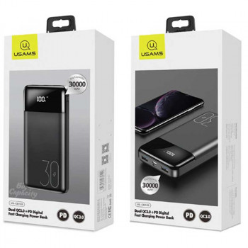 Внешний аккумулятор USAMS US-CD103 PB38 Dual QC3.0+PD Digital Fast Charging Power Bank 30000mAh