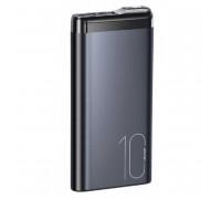 Usams 10000mAh PB55, LED, 2USB, 2A, microUSB/Type-C input (US-CD148) black