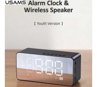 Usams Multi-functional Alarm Clock & Wireless Speaker (US-YX007) black