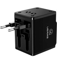 Usams T2 2USB 1A 4-in-1 Universal Travel Charger (US-CC044) black