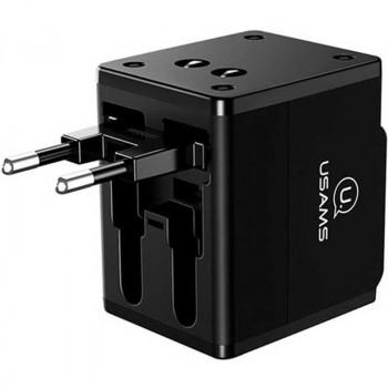 Адаптер питания Usams 4-in-1 Dual USB Travel Wall Charger (US-CC044)