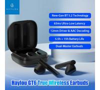 Xiaomi Haylou GT6 True Wireless Earbuds, BT 5.2, AAC, wireless charging case, black