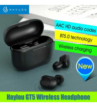 Xiaomi Haylou GT5 TWS Earbuds, AAC, wireless charging case, black