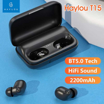 Xiaomi Haylou T15 TWS Earbuds, AAC, black