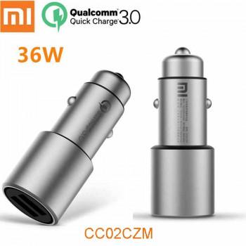 Xiaomi Mi Car Charger (36W) QC3.0, 2USB, металл (CC02CZM) серебро