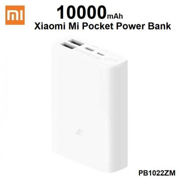 Xiaomi Mi Power Bank Pocket Edition 10000 mah, PD22.5w + QC3.0 22.5w (PB1022ZM) white