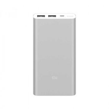 Внешний аккумулятор Xiaomi Mi 2 New Power Bank 10000 mAh 2 USB Silver (PLM09ZM)