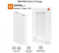 Xiaomi Mi Power Bank 3  20000mah, USB-C 18w (PLM18ZM) white