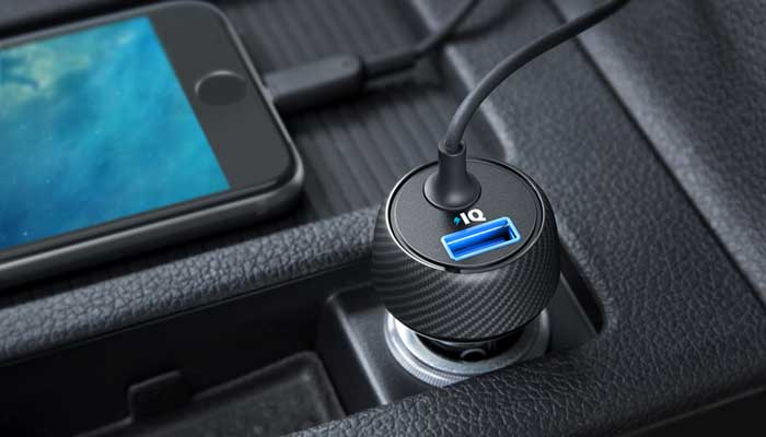 Anker 24W 4.8A PowerDrive Elite 2 Ports Car Charger with Lightning Connector