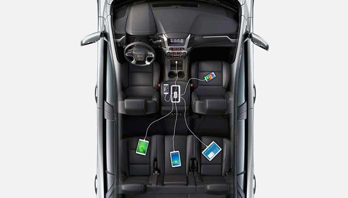 Мощное автомобильное зарядное устройство для телефона и планшета Anker PowerDrive 5