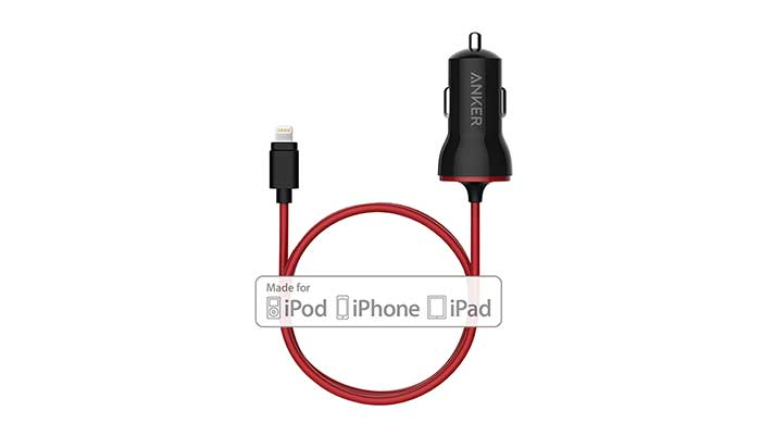 Быстрая и безопасная автомобильная зарядка Anker PowerDrive Lightning для iPhone и iPad